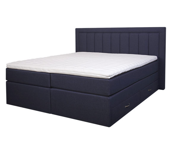 Diva Boxspring Bed with 4 drawers - 1