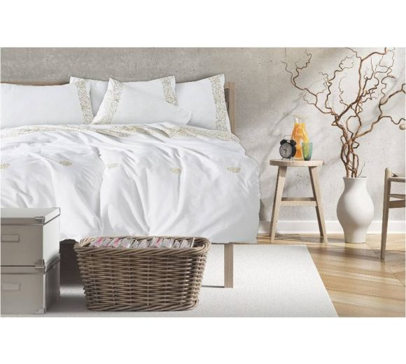 Luxury Style Bed Linen with embroidery - Ecru - 1