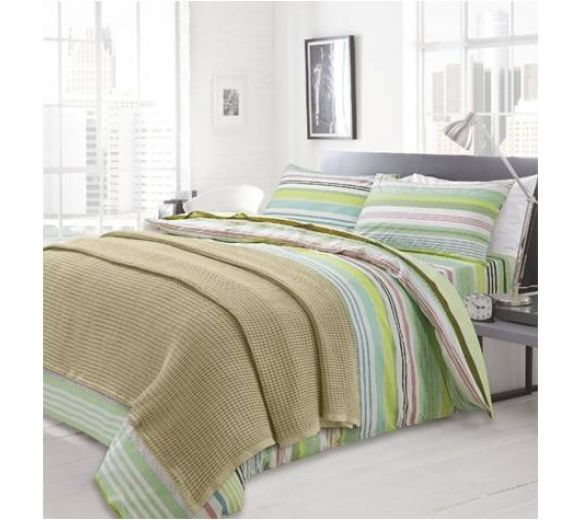 Knitted blanket, Natural