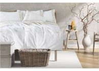 Luxury Style Bed Linen with embroidery - Ecru - 1t